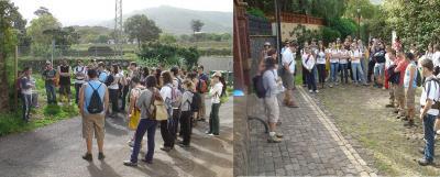 Alumnos de la Universidad de La Laguna, recorren la Ruta a La Degollada